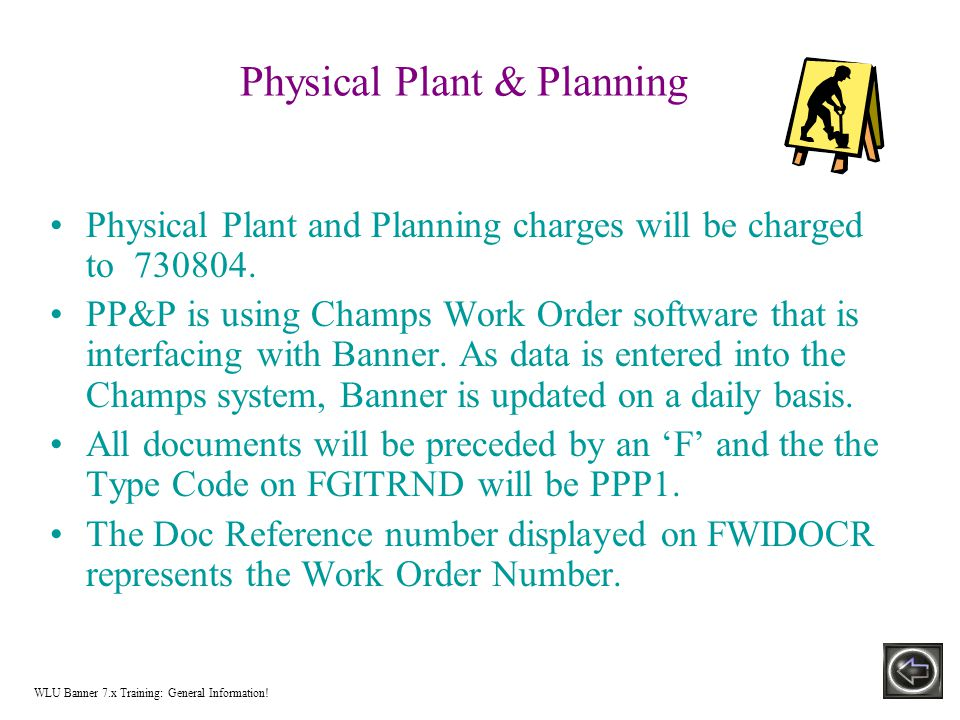 Physical Plant & Planning Physical Plant and Planning charges will be charged to 730804.