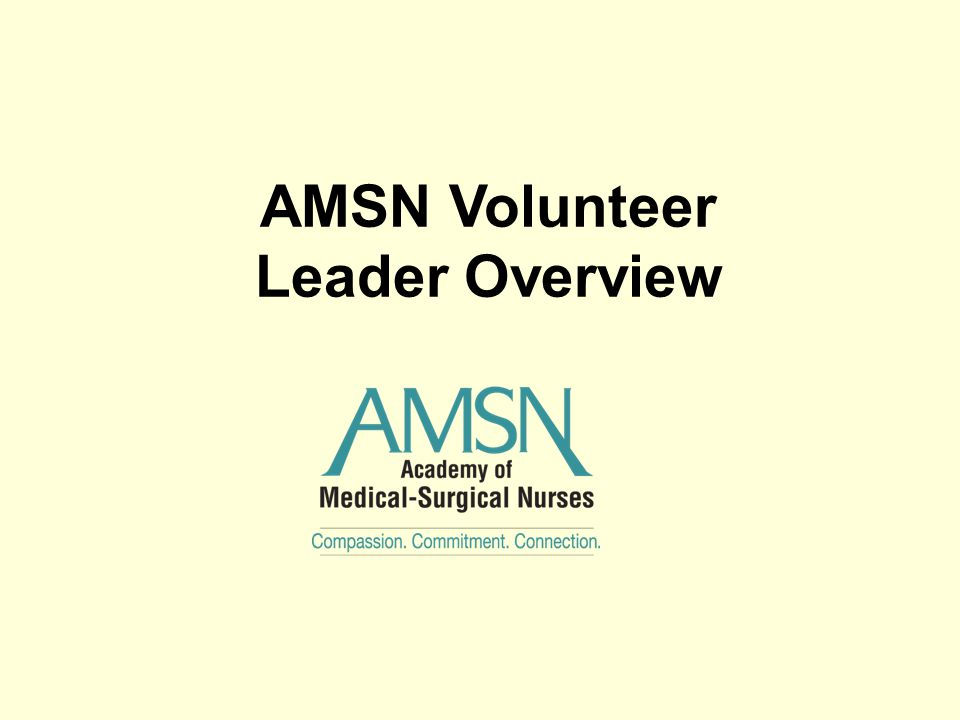 AMSN Volunteer Leader Overview