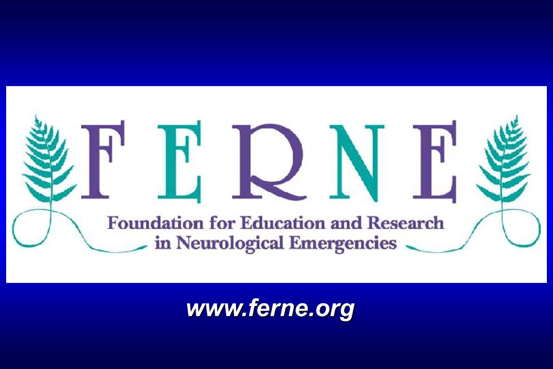 Education FERNE Courses Provided in conjunction with national meetings 60-90 minute presentations Case-based format Key learning points Review of clinical guidelines Optimal ED management strategies Enhanced patient outcomes