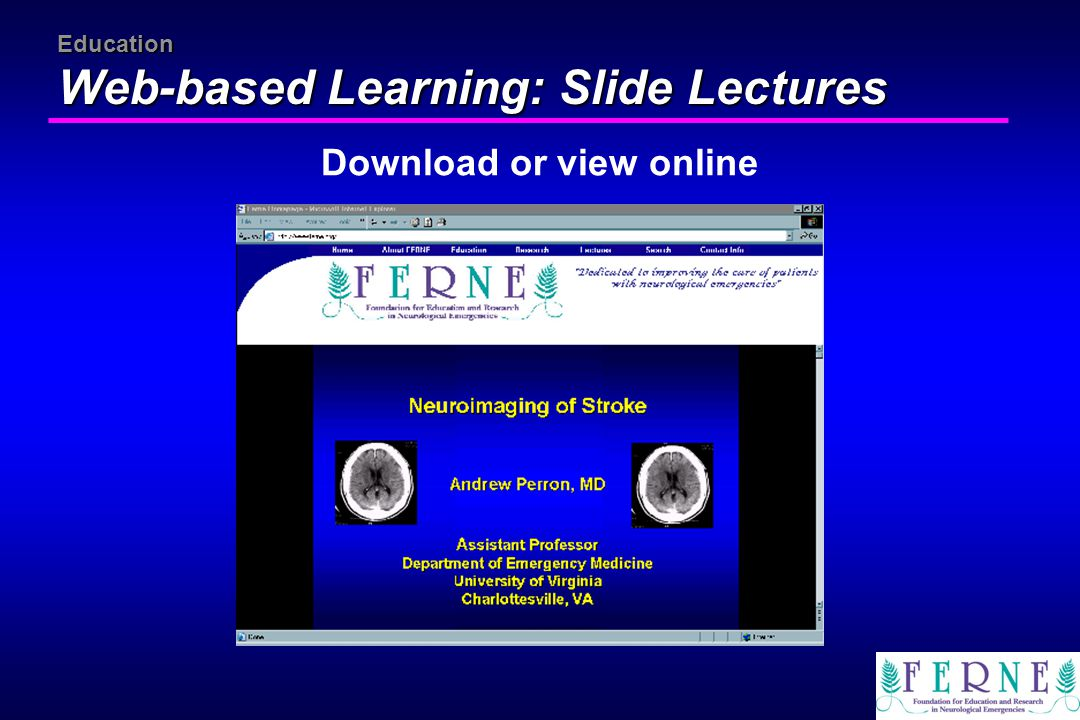 Education Web-based Learning: Slide Lectures Download or view online