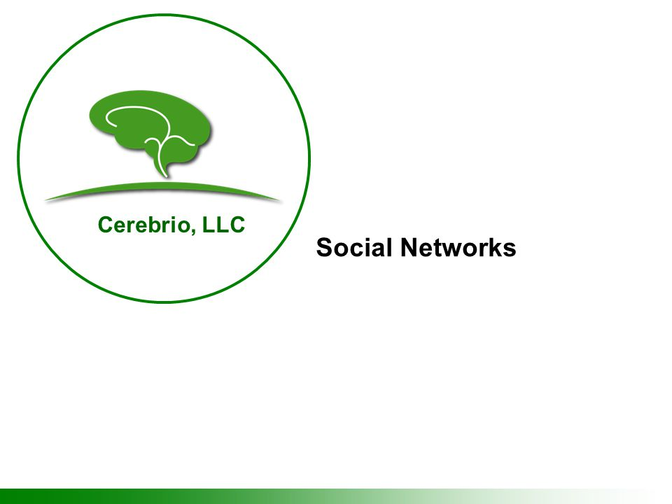 Cerebrio, LLC Social Networks