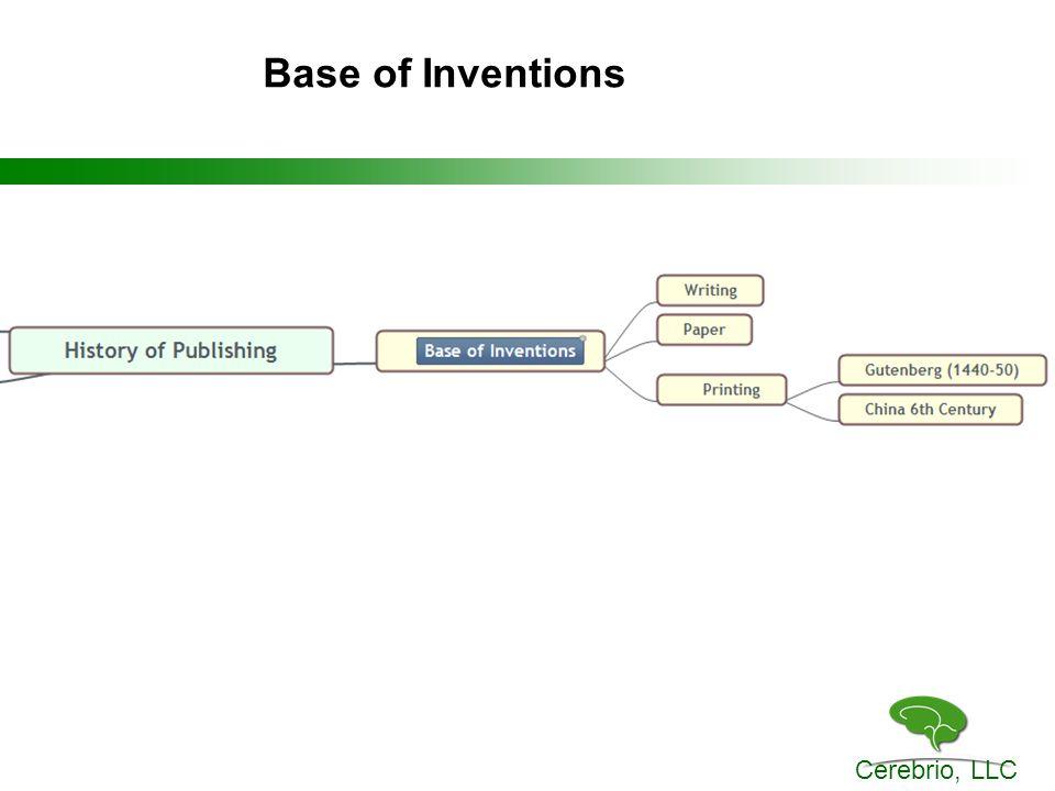 Cerebrio, LLC Base of Inventions