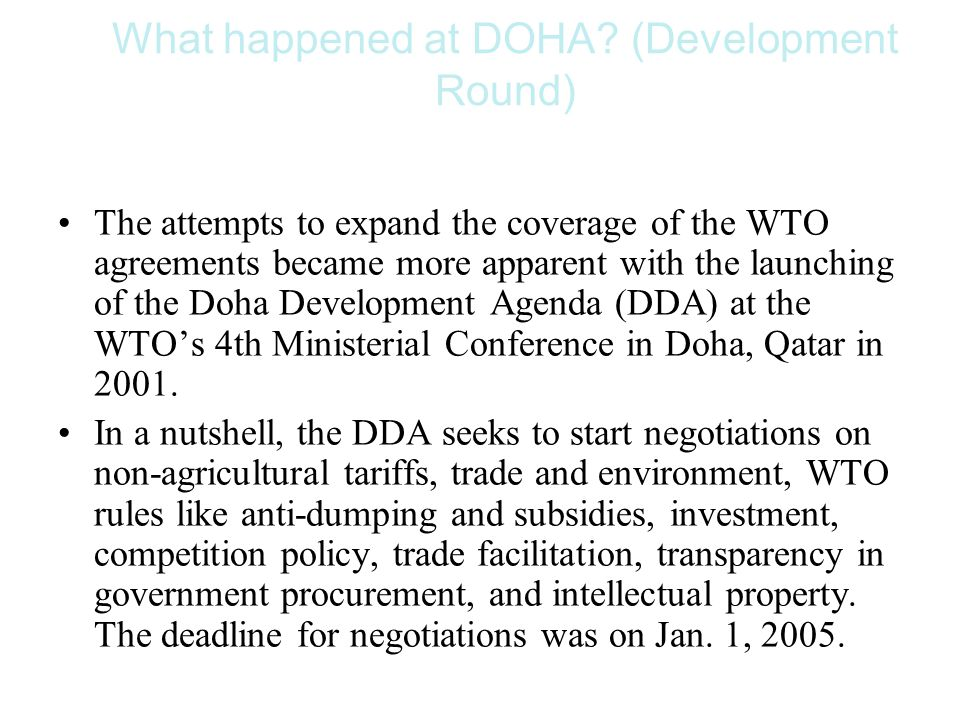 What happened at DOHA.