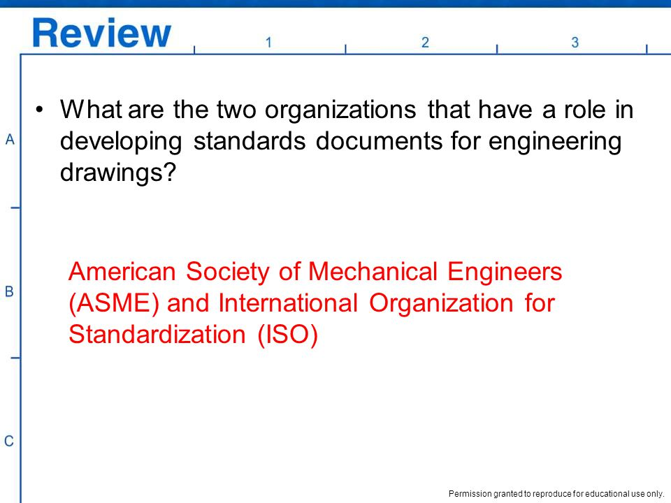 Permission granted to reproduce for educational use only. What are the two organizations that have a role in developing standards documents for engine