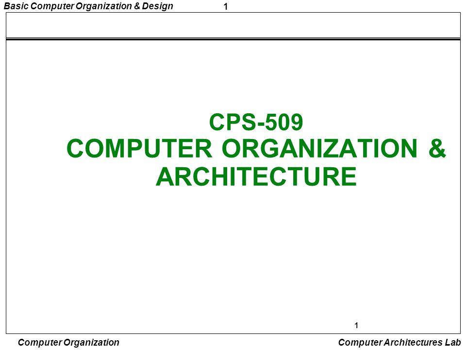 42 Basic Computer Organization & Design Computer Organization Computer Architectures Lab DESIGN OF BASIC COMPUTER(BC) Hardware Components of BC A memory unit: 4096 x 16.