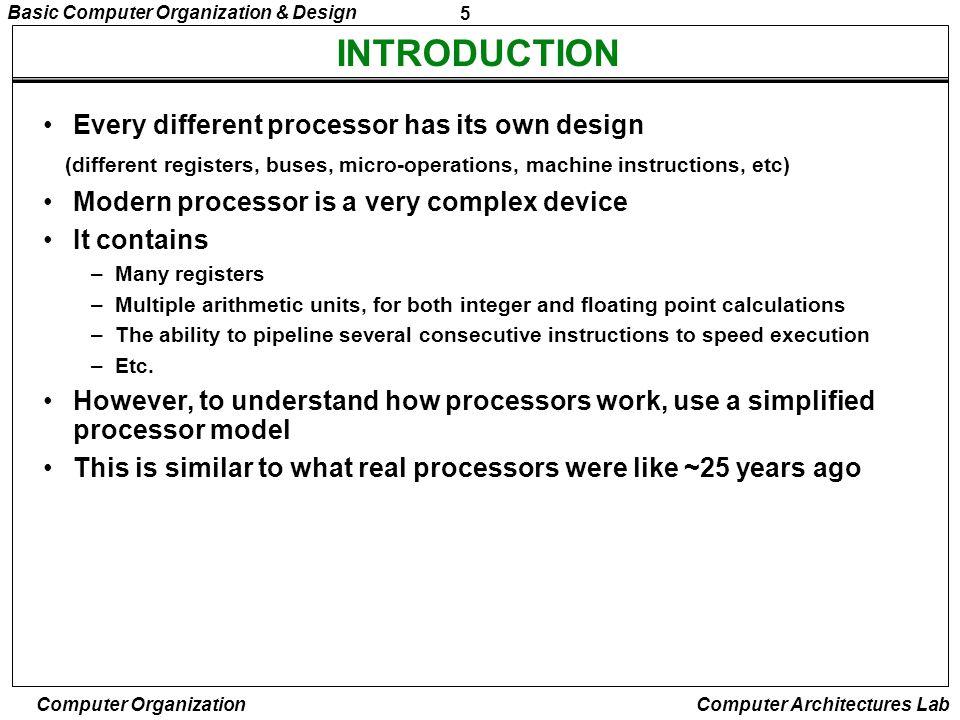 26 Basic Computer Organization & Design Computer Organization Computer Architectures Lab REGISTER REFERENCE INSTRUCTIONS r = D 7 IT 3 => Register Reference Instruction B i = IR(i), i=0,1,2,...,11 - D 7 = 1, I = 0 - Register Ref.