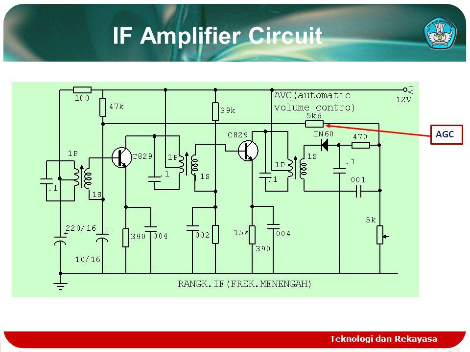 IF Amplifier Circuit Teknologi dan Rekayasa AGC
