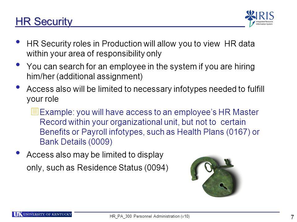 HR_PA_300 Personnel Administration (v10) 8 Unit 1 Organizational Management