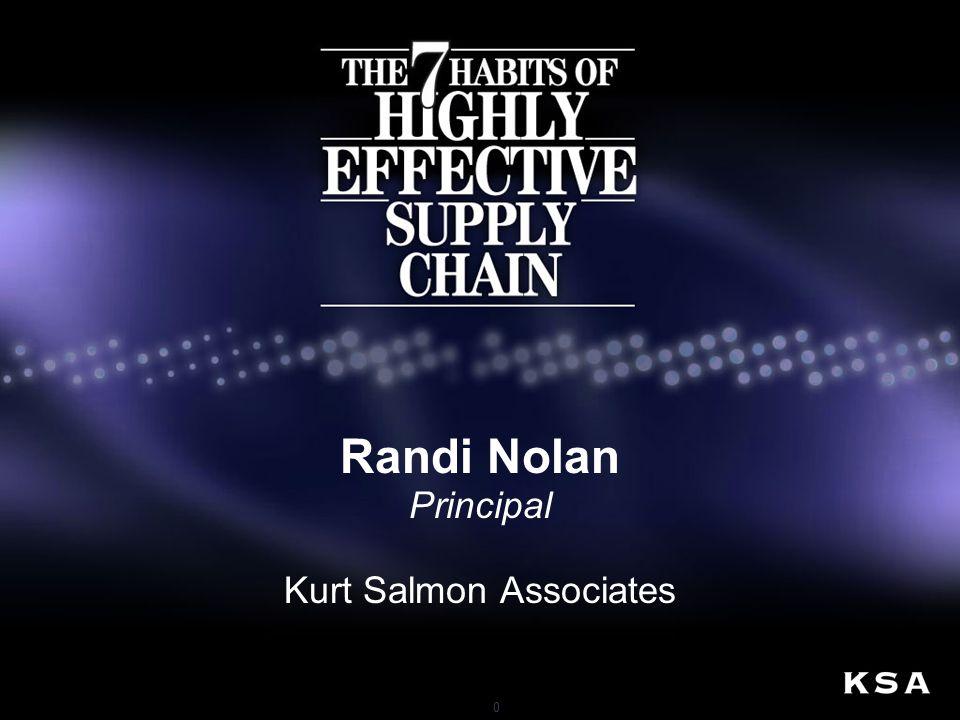 0 Randi Nolan Principal Kurt Salmon Associates