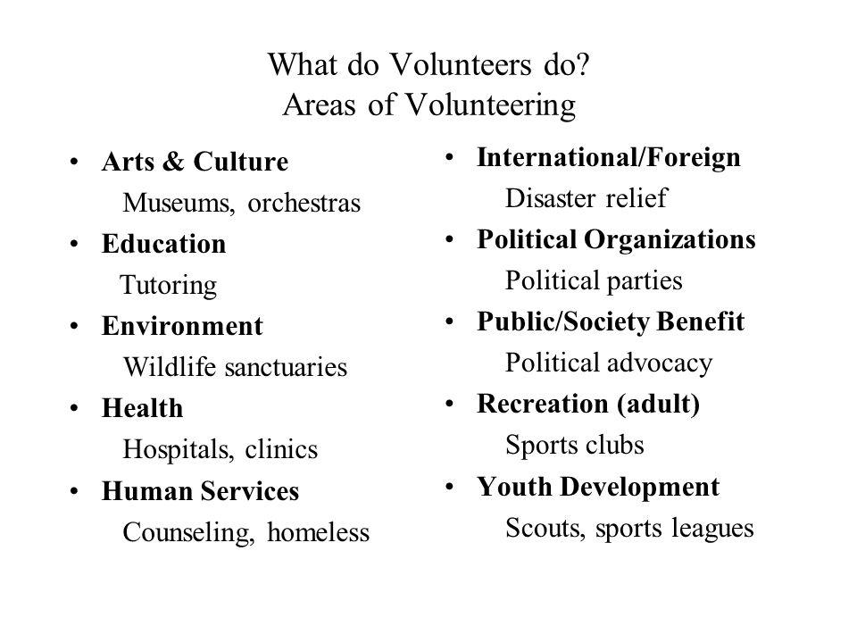 What do Volunteers do.
