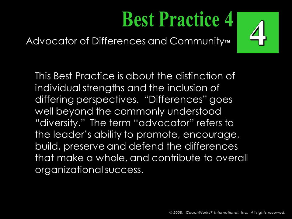 This Best Practice is about the distinction of individual strengths and the inclusion of differing perspectives.