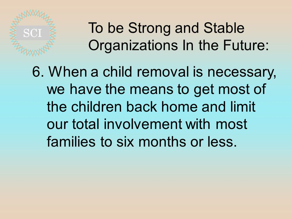 To be Strong and Stable Organizations In the Future: 6.