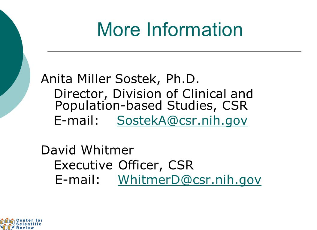 More Information Anita Miller Sostek, Ph.D.