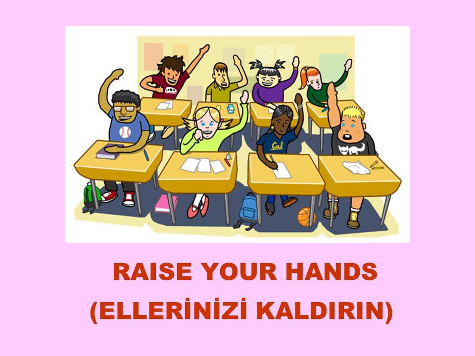 RAISE YOUR HANDS (ELLERİNİZİ KALDIRIN) 