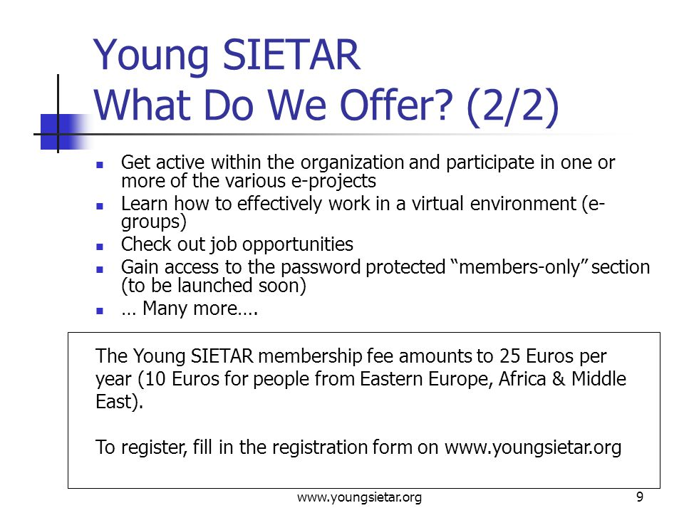 www.youngsietar.org10 Young SIETAR Who Are Our Members.