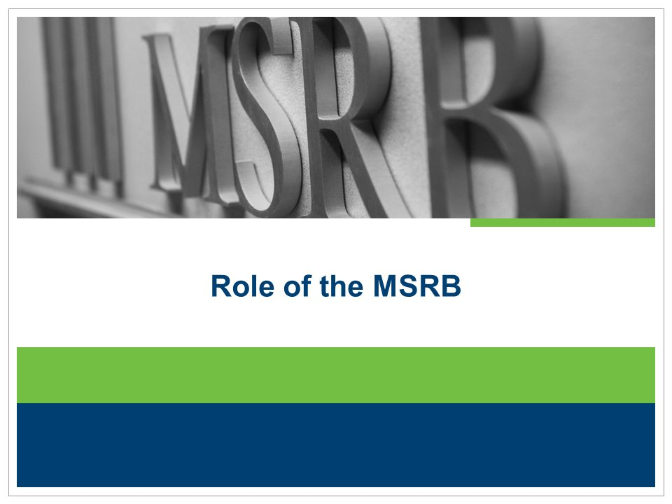 Role of the MSRB
