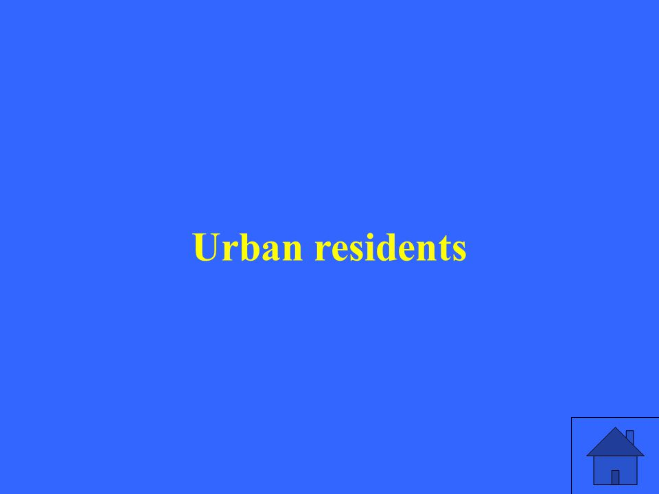 Urban residents
