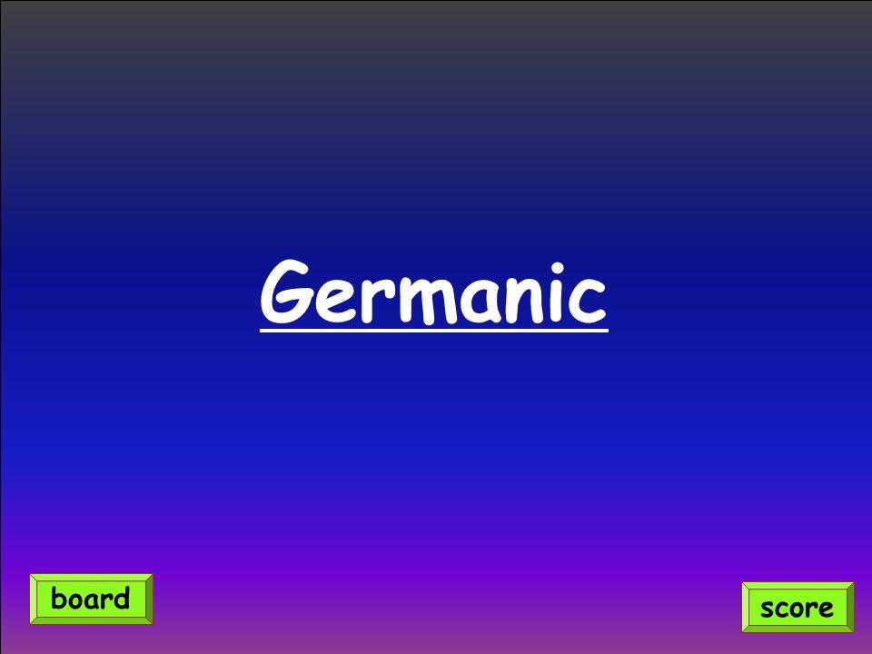Germanic score board