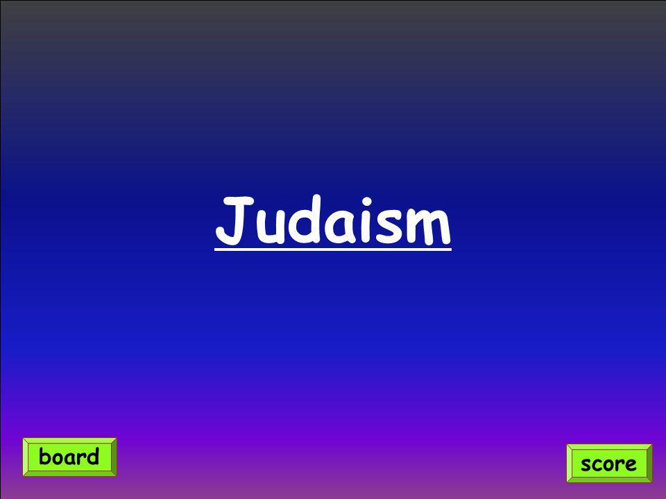 Judaism score board
