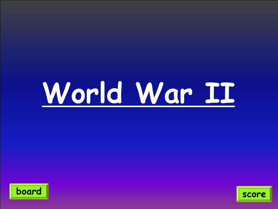 World War II score board