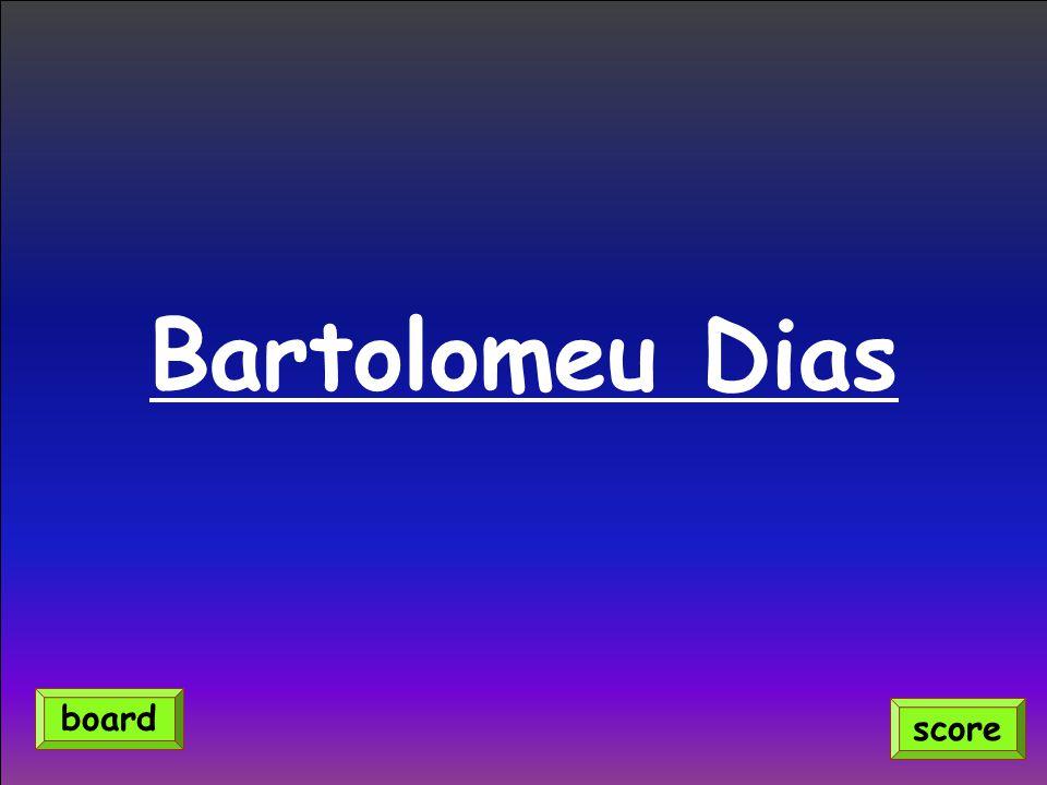 Bartolomeu Dias score board