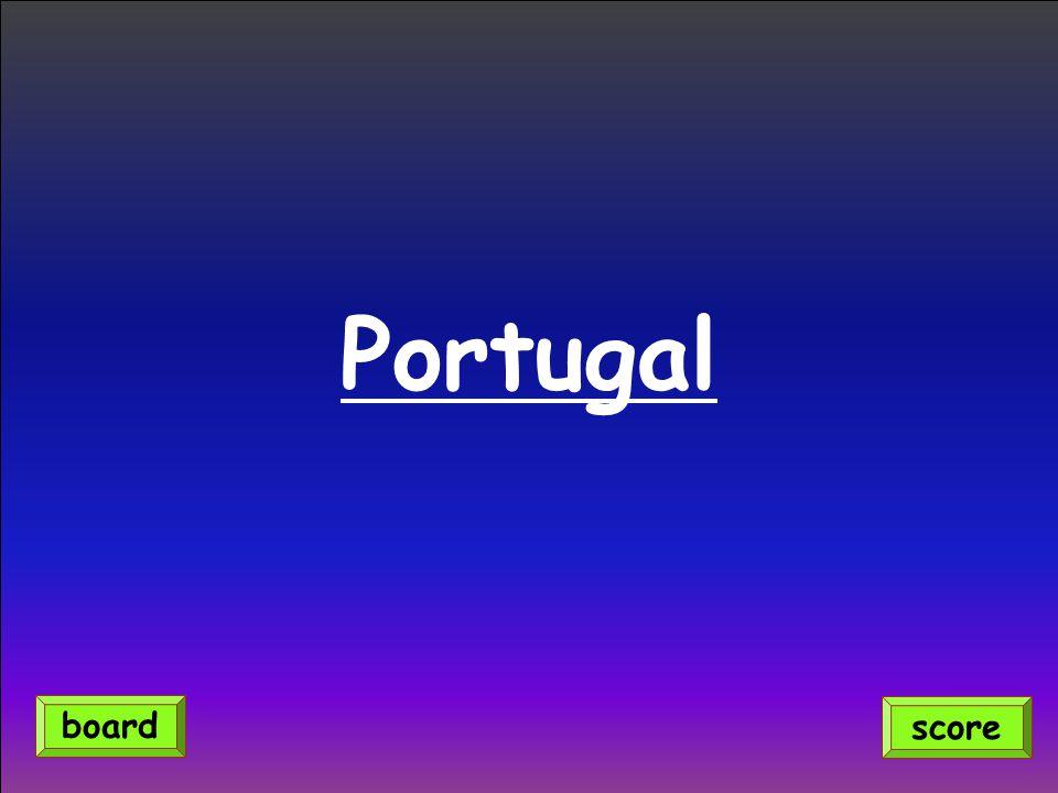 Portugal score board