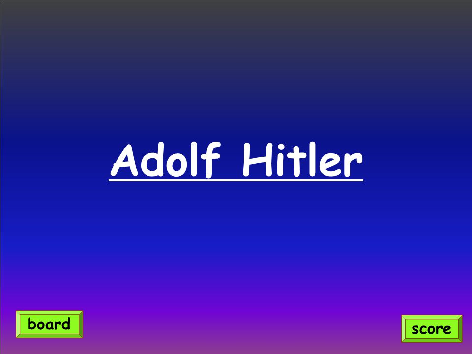 Adolf Hitler score board