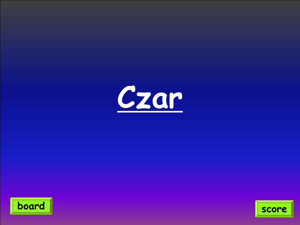 Czar score board