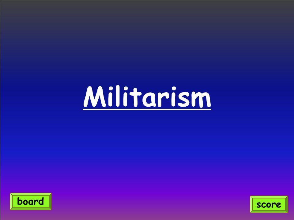 Militarism score board