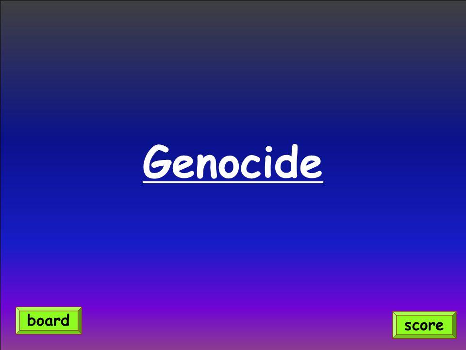 Genocide score board