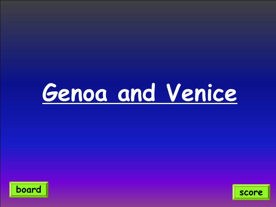Genoa and Venice score board