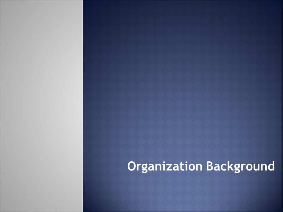 Organization Background