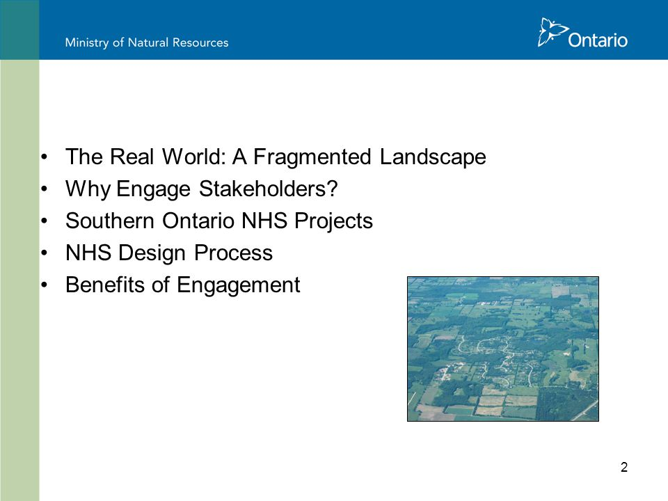 2 The Real World: A Fragmented Landscape Why Engage Stakeholders.