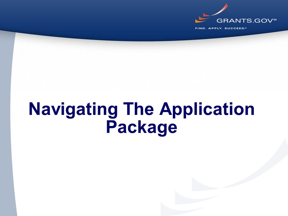 Navigating The Application Package