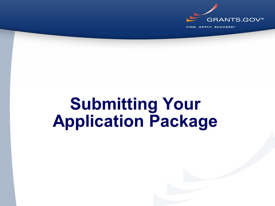 Submitting Your Application Package
