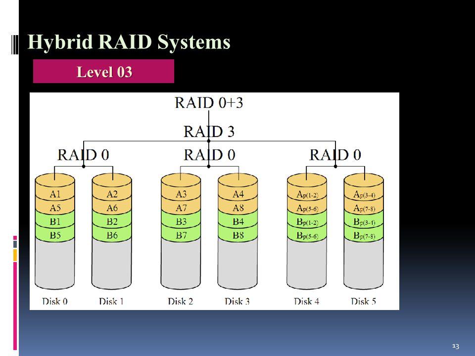 13 Hybrid RAID Systems Level 03