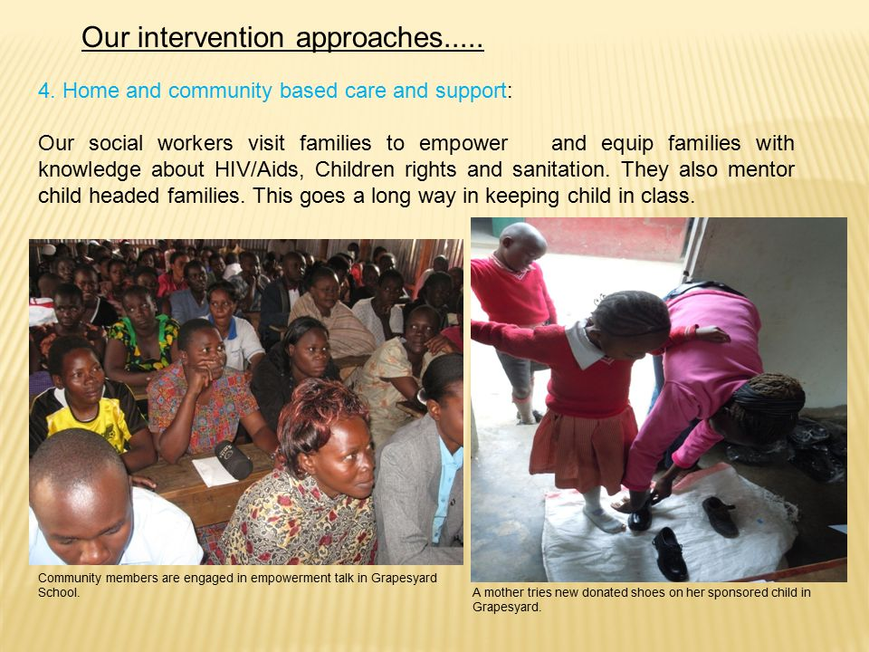Our intervention approaches..... 4.
