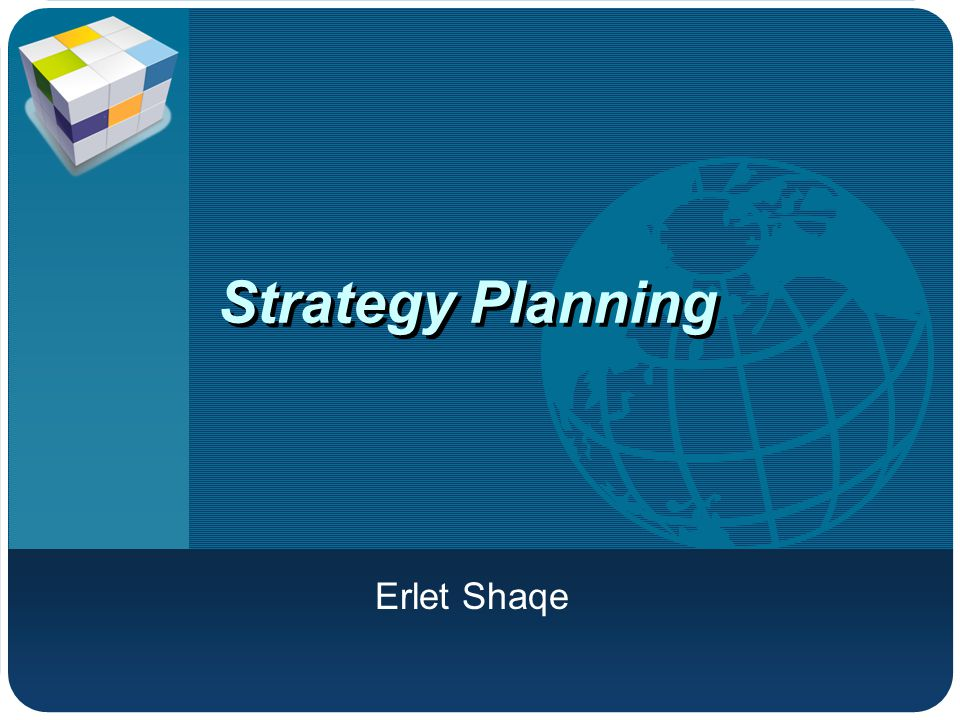 Company LOGO Strategy Planning Erlet Shaqe