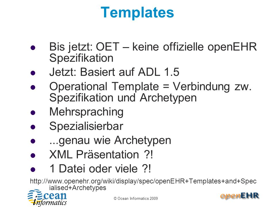 Templates in CKM