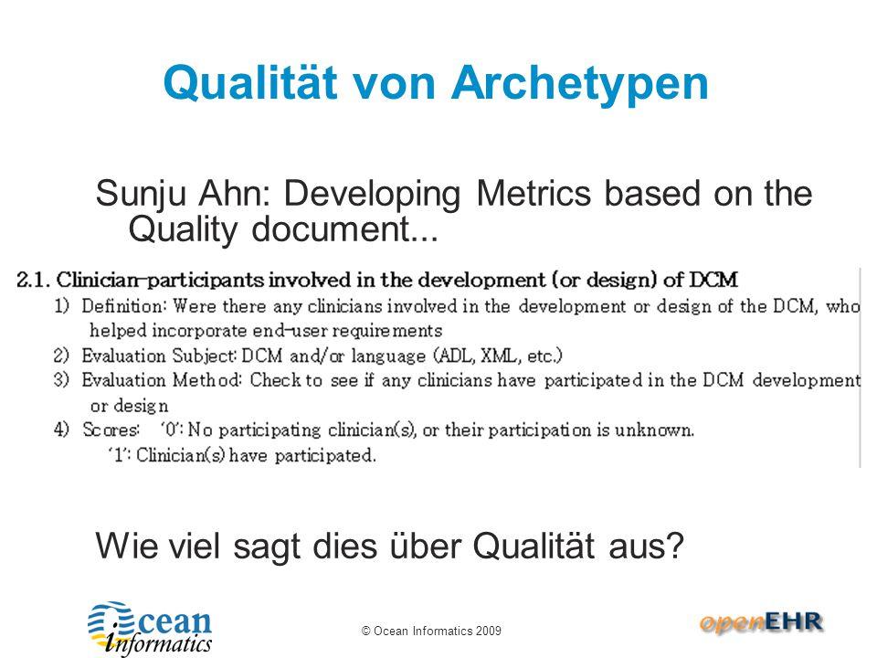 © Ocean Informatics 2008 Quality Metrics Neuland.
