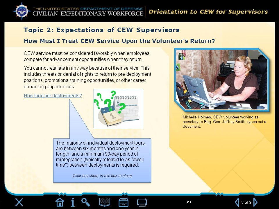 v.1 How Must I Treat CEW Service Upon the Volunteer's Return.