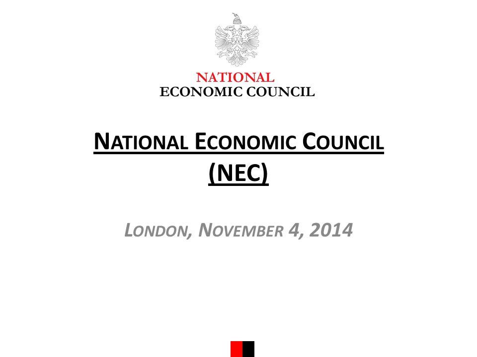N ATIONAL E CONOMIC C OUNCIL (NEC) L ONDON, N OVEMBER 4, 2014