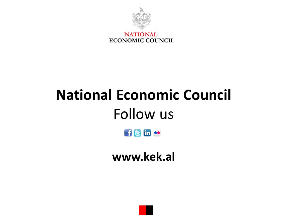 National Economic Council Follow us www.kek.al
