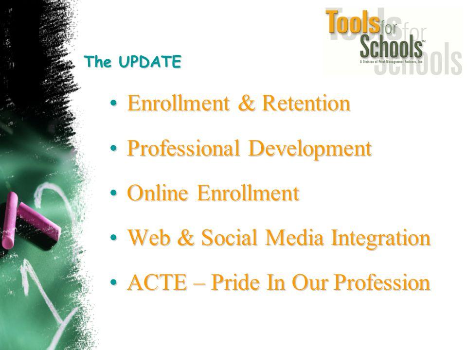 The UPDATE Enrollment & RetentionEnrollment & Retention Professional DevelopmentProfessional Development Online EnrollmentOnline Enrollment Web & Soci