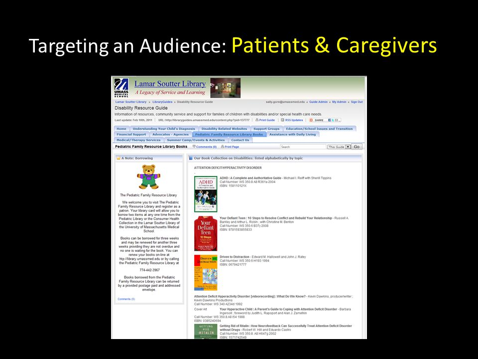 Targeting an Audience: Patients & Caregivers