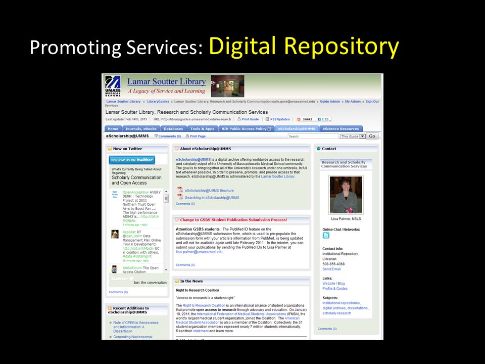 Promoting Services: Digital Repository