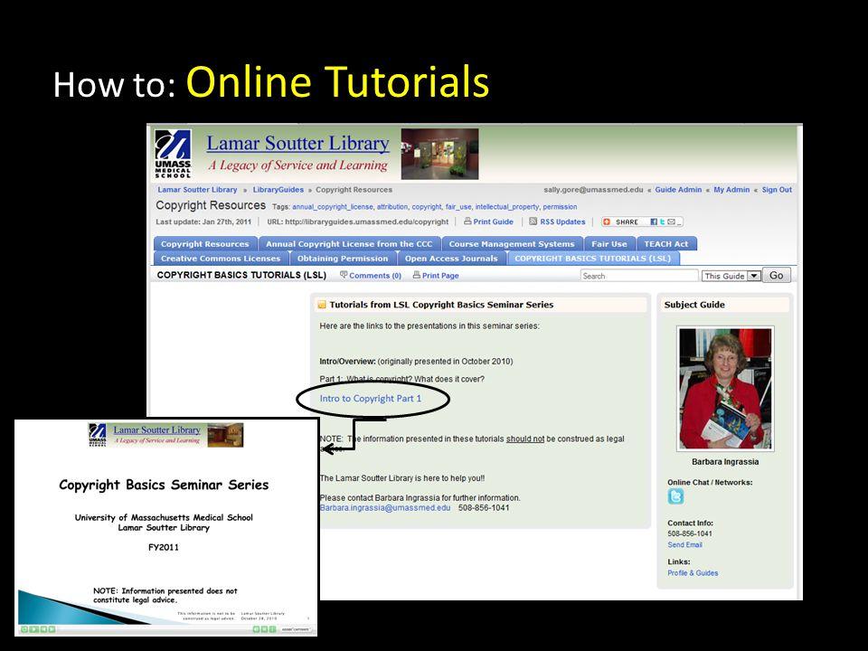 How to: Online Tutorials