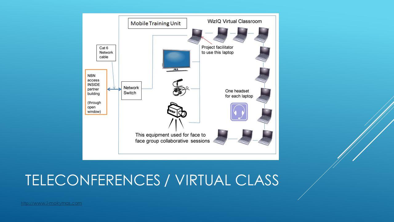 TELECONFERENCES / VIRTUAL CLASS http:// www.i-mokymas.com