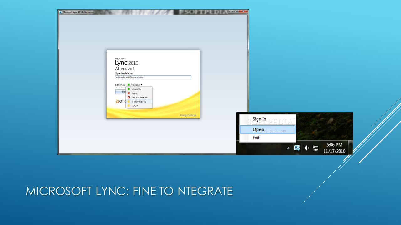 MICROSOFT LYNC: FINE TO NTEGRATE