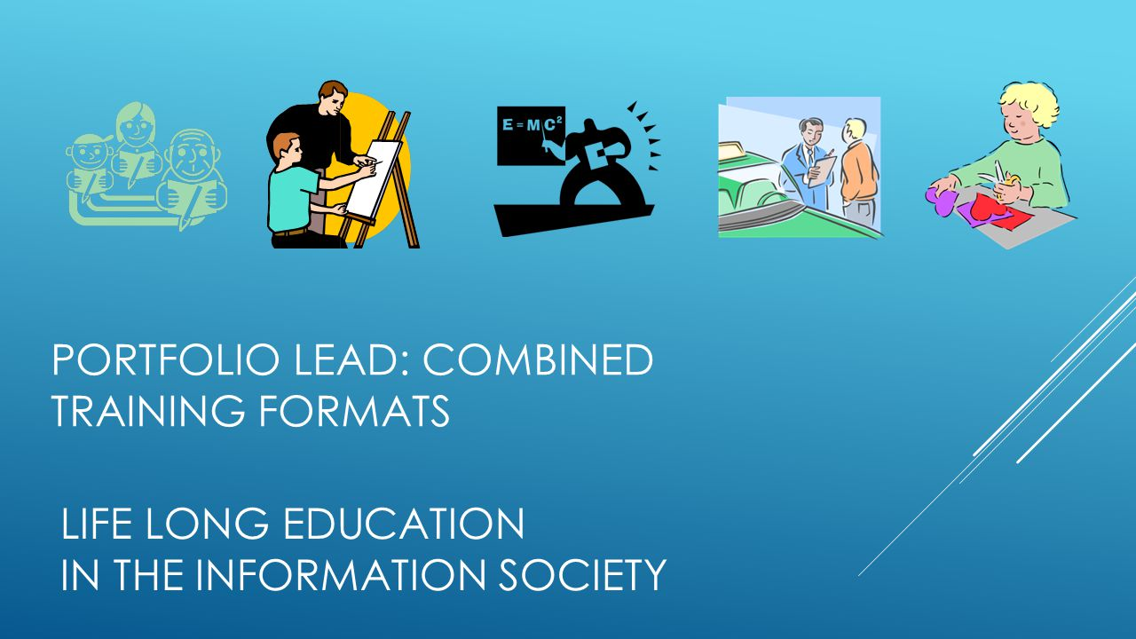 LIFE LONG EDUCATION IN THE INFORMATION SOCIETY PORTFOLIO LEAD: COMBINED TRAINING FORMATS